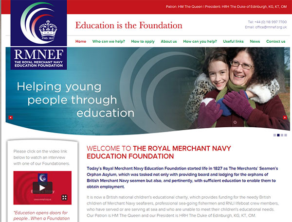 Royal Merchant Navy Education Foundation website