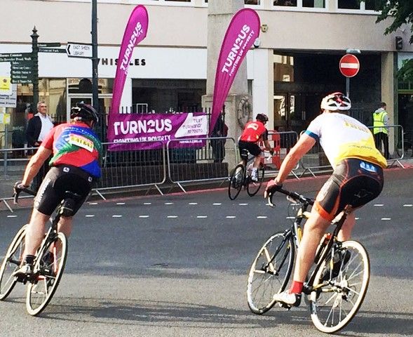 Turn2us at East Sheen for RideLondon cycle event