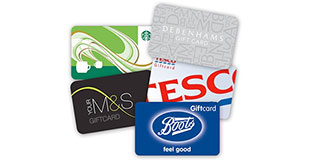 Image of different gift cards