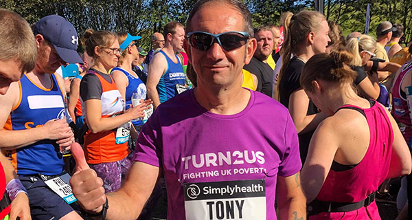 Tony Howard at the Great North Run