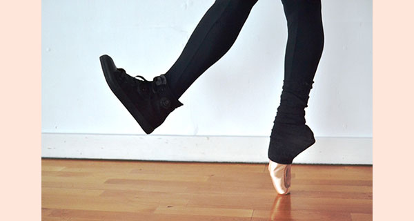 A photograph of dancing feet