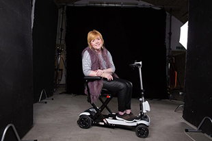 Hayley in wheelchair