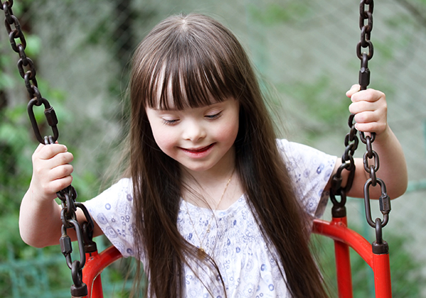 Young girl with Down's Syndrome