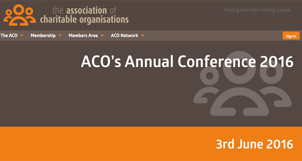 ACO conference 2016 website screenshot