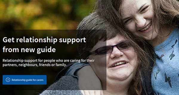 Carers Trust slider about the carers relationship guide