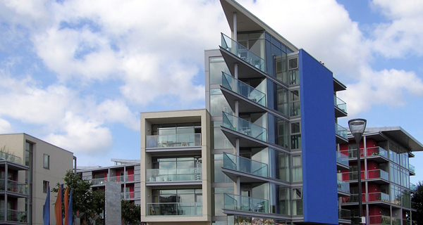 Flats at Bristol harbour