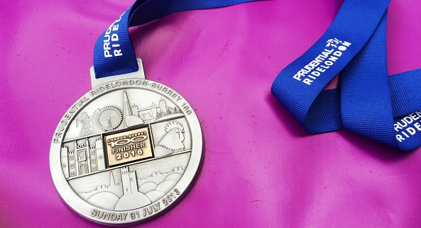 RideLondon finisher medal