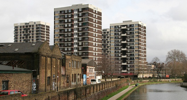Social housing tower blocks