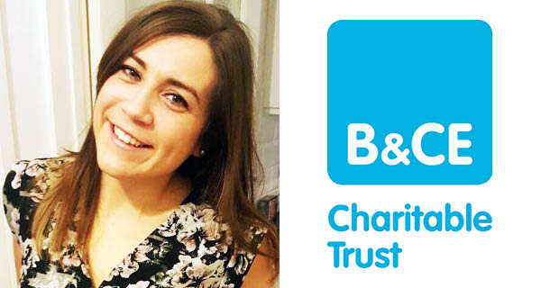 Louise King and B&CE Charitable Trust logo