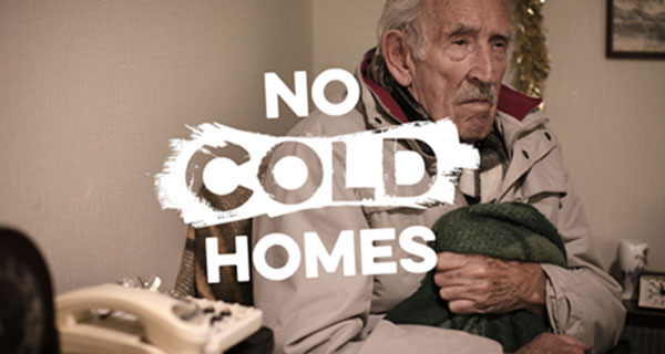 No Cold Homes campaign photograph