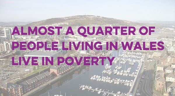 Turn2us infographic about poverty in Wales
