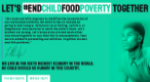 Screengrab of the home page of the End Child Food Poverty website