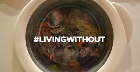 Living WIthout panel showing a washing machine