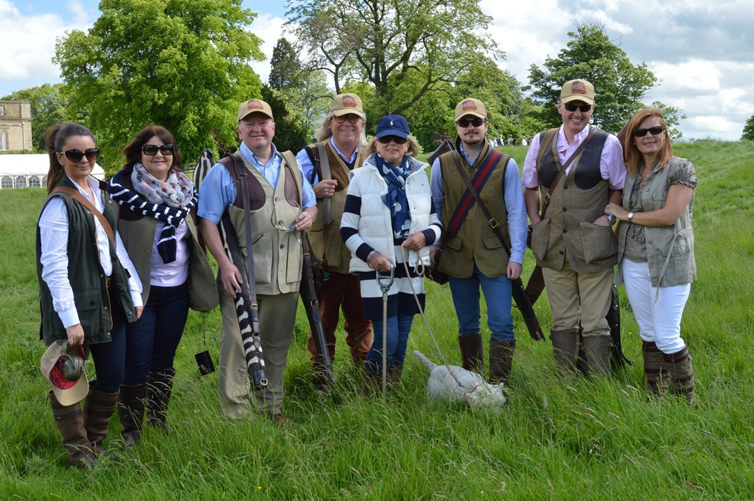 Fundrasing team after the clay pigeon shoot