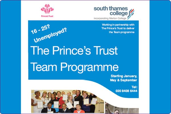 Information about the Prince's Trust courses for young people
