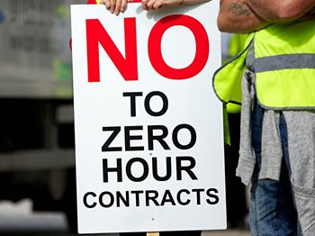 No to zero hour contracts poster